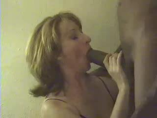 Porno Video of Mature's Mouth Full Of Chocolate Sausage