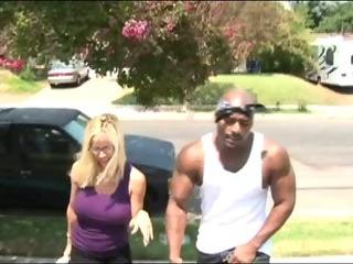 Porno Video of Busty Blonde Having Interracial Sex
