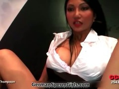 Asian whore with huge tits gets her