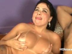 Exotic Bi threesome cumming