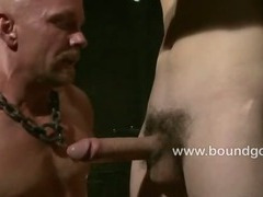 Logan horny while DJ sucks his fat cock