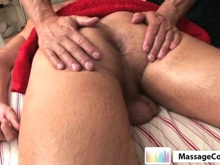 Porn Tube of Massagecocks Shy Latino Massage