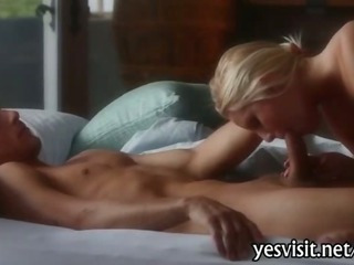 Porno Video of Stunning Blonde Babe Vanessa Cage Pussy Hammered On Bed