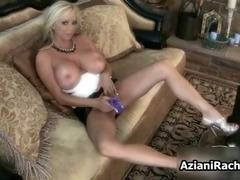 Amazing blonde lady finger