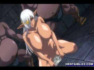 Porno Video of Big Boobed Hentai Ghetto Hard Fucked By Monster In The Dungeon