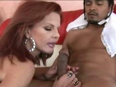 Redheaded milf having an interracial hardcore sex