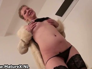 Sex Movie of Horny European Mature Woman Is Stripping