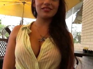 Porn Tube of Sexy Slut Shows Her Tits And Pussy In Public