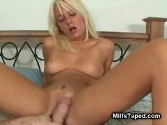 Blonde MILF Sucking Fat Dick
