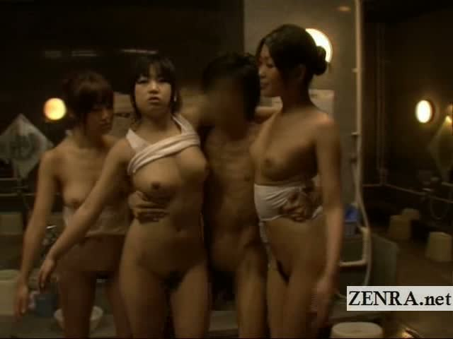 freeze japanese sex - Bizarre Japan CFNM sauna ladies time freezing handjob sex clip, watch  online for free