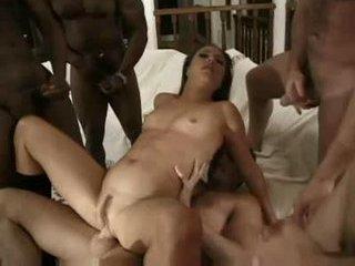 Porno Video of Five Guys Take On Whore!
