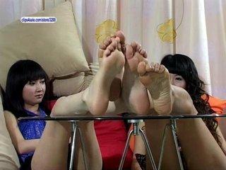 Porn Tube of Asian Footworship
