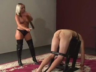 Porn Tube of Femdom Whipping And Caning