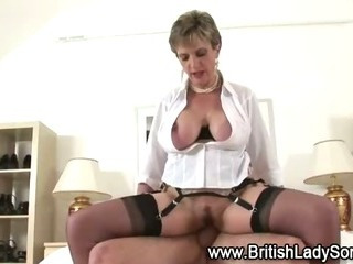 Porn Tube of Mature Stocking Brit Sonia Fuck And Facial