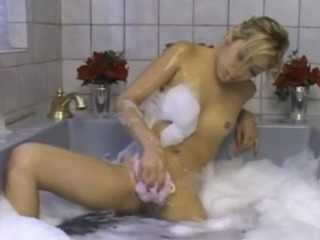Porn Tube of Blonde Asian Teen In Bubbles