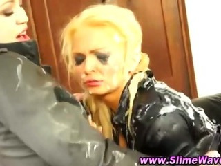 Porno Video of Horny Bukkake Fetish Glamorous Lesbos
