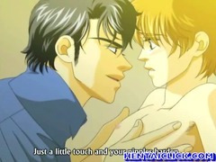 Anime gay hot kissed and ass fucked