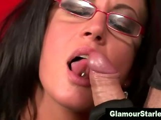 Porn Tube of Glamour Slut Eats Dicks