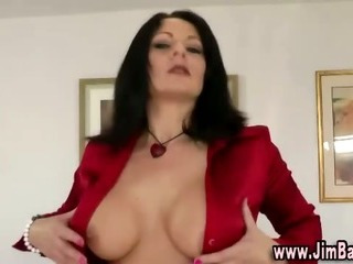 Porno Video of Stockinged Euro Slut Sucks