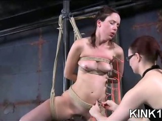 Porno Video of Babe Bound And Stuffed