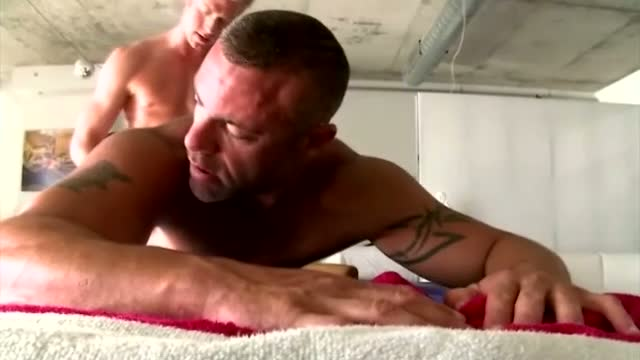 Gay masseur assfucked by straight client