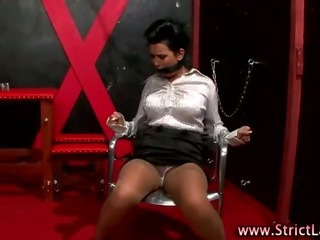 Porn Tube of Bondage Lezdom Slut Fingers