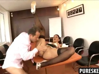 Porno Video of Horny Brunette Secretary Gets Fucked At Work