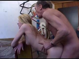 Porn Tube of A Blonde Teen Fucks An Old Man