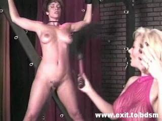 Porn Tube of Bizarre Lesbian Femdom With Crucified Slave Girl