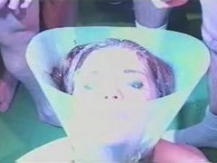 Girl in funnel bukkake