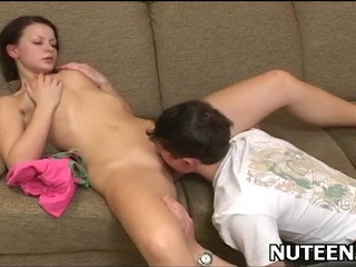 Porno Video of Sex Appeal Teen Chick Kneels