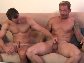 Porno Video of Str8 Muscle Stud Mma Cage Fighter, Justin Cage, Hooks Up With Another Hunky Str8 Dude.