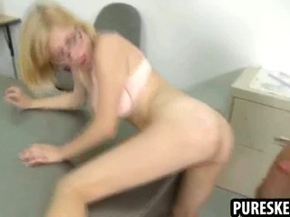 Porno Video of Nerdy Schoolgirl Sucks And Fucks Her Teacher