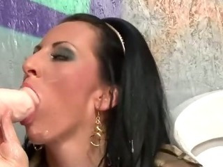 Porn Tube of Glam Gloryhole Slut Sucks