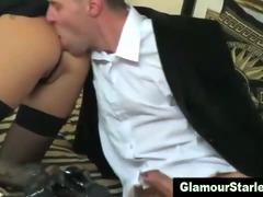 Clothed horny fetish posh brunette
