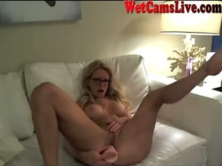 Porno Video of Stunning Blonde Squirts On Webcam Part 3