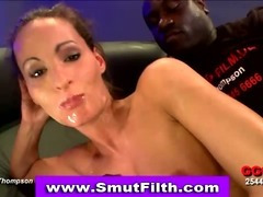 Bukkake fetish slut fuck and cum facial