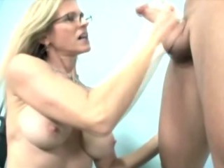 Porno Video of Mature Blonde Is Jacking Off Cock