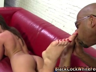 Porn Tube of Nasty Bizarre Fetish Slut Gives Footjob