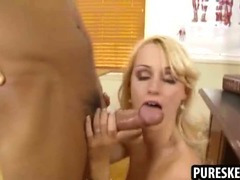 Perfect blonde schoolgirl gets her pussy pounded