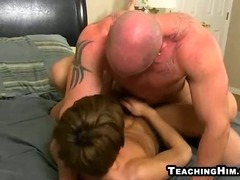 Young twink gets his ass pounded by a mature hunk