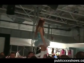 Porno Video of Stripper Toying On Public