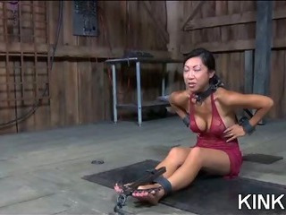 Porno Video of Tender Babe Wooden Block