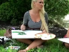 Slutty Artists Get Busy On Park Bench