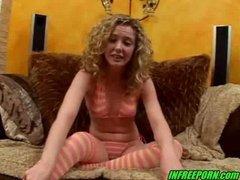 Blonde Sweet Teen Blowjob Swallow