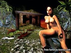 Tomb raider Lara Croft hardcore sex parody