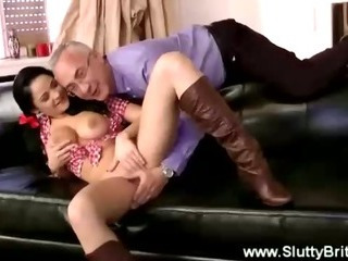 Porno Video of Big Titted Cowgirl Sucks Cock For Older Guy
