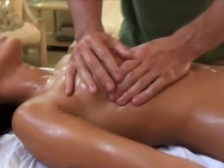 Porno Video of Masseur Uses A Real Massage Staff On Her Wet Pussy