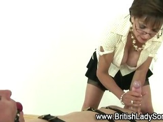 Porn Tube of Bondage Cock Teased By Mature