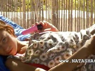 Porn Tube of Russian Beauty Natasha With Pink Dildo